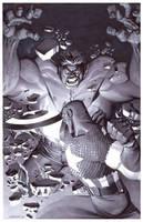 Hulk VS Captain America by ChristopherStevens