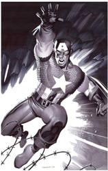 Captain America- Marker Illo by ChristopherStevens