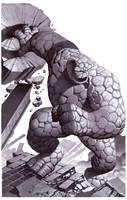Thing- Marker Illo by ChristopherStevens