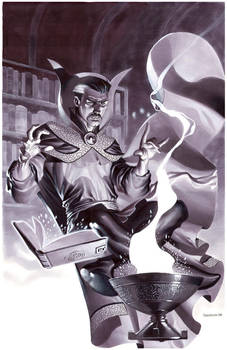 Dr Strange- Marker Illo by ChristopherStevens