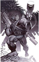 Hulk With Guns- Marker Illo by ChristopherStevens