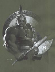 Planet Hulk bust by ChristopherStevens