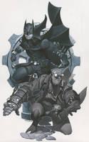 Batman and Hellboy by ChristopherStevens