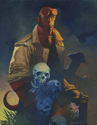 Hellboy oils by ChristopherStevens
