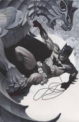 Batman Under Gargoyle by ChristopherStevens