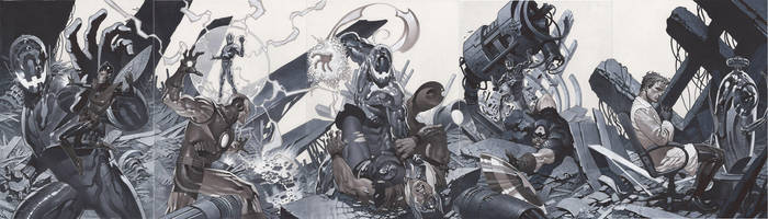 What If cover full spread by ChristopherStevens