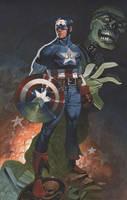 Captain America colors by ChristopherStevens
