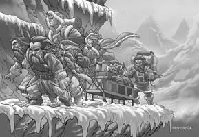 Warcraft - Humans and Dwarves by ChristopherStevens