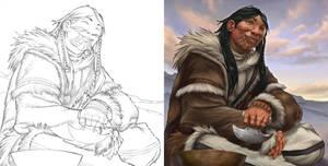 Inuit - Aguk Agjuk by ChristopherStevens