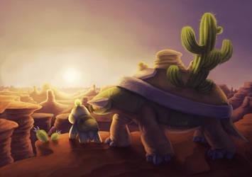 Desert torterra by mercurybird