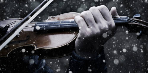 Violin in the snow II by v4lkyr