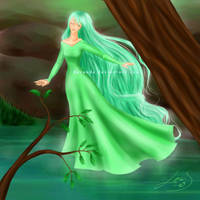 Maiden of the Pond by Berende