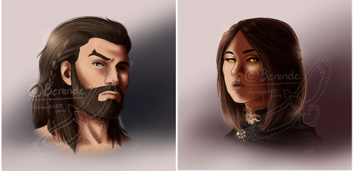 Headshot Commissions by Berende