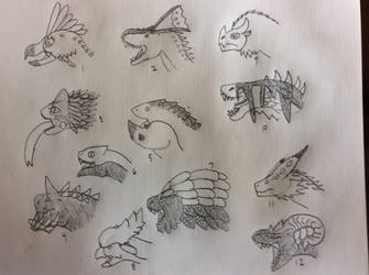 MHW monsters  by AlphaX9