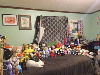 Half my stuff toy Collection. by Namine-Kitten