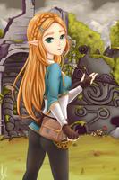 Princess Zelda - Breath of the Wild by Miss--Mononoke
