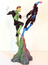 Green Lantern VS Sinistro custom base by georgesmassilia