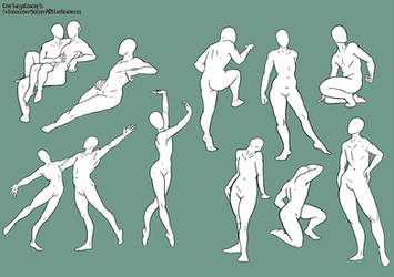 Free 2 Use: February Poses by CourtneysConcepts