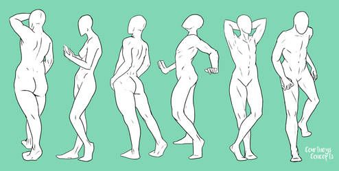 Standing Poses 1 by CourtneysConcepts