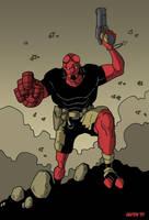 Hellboy by Gaston25