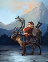 Cowboy Santa by ALRadeck
