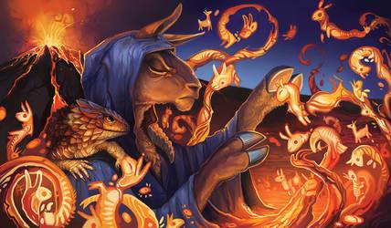 Grim Llamamancer by ALRadeck