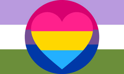 Bisexual Panromantic Genderqueer Combo Flag by Pride-Flags