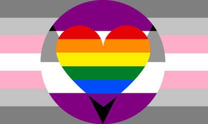 Demigirl Aegosexual Homoromantic Combo by Pride-Flags