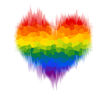Gay Glitch Heart by Pride-Flags