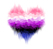 Genderfluid Glitch Heart by Pride-Flags