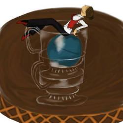 The ball in a cup by Torisha-Buraun