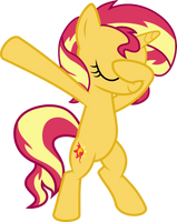 Sunset Shimmer Dabbing by AceWissle