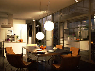 alu kitchen_night by brown-eye-architects