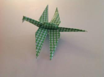 Oragami Pleisosaur by Teayl