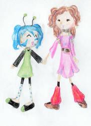 Em and Xini by LunaTheOtaku
