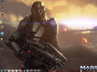 Mass Effect 2 Windows 7 Theme by yonited