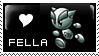Fella Love stamp by HappyStamp