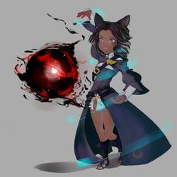 FFXIV Arcanist by Nabashio