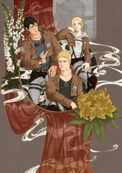 SnK - The three of them [possible spoilers] by Cah3thel