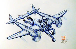 Centaur Fighter Plane by Diana-Huang