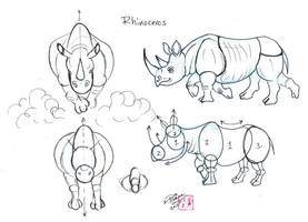 Draw Rhinos by Diana-Huang