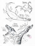 Draw Plesiosaur and Pliosaur by Diana-Huang