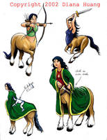 More Centaur Character Designs by Diana-Huang