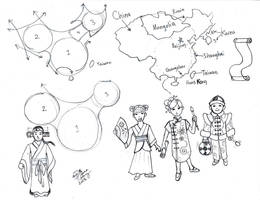 Draw China and Chinese Clothes by Diana-Huang