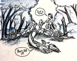 Crash Landing Drawing by Diana-Huang