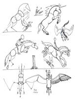 Draw Horses 2 revision by Diana-Huang