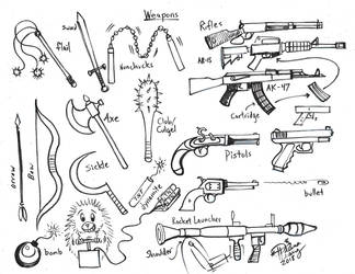 Draw Weapons by Diana-Huang