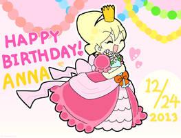 HAPPY BIRTHDAY , ANNA!! by SATOMIyakimeshi17
