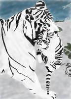 Tiger and cub by NicamShilova