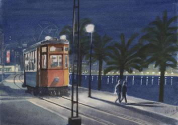 Last tram.. by Henelb